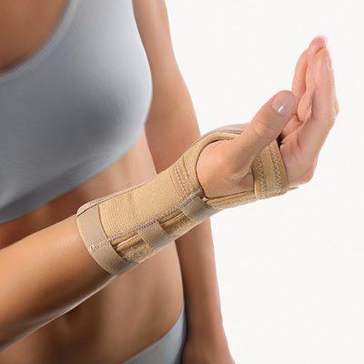 BORT Medicininis riešo įtvaras su aliuminio lankstu 1